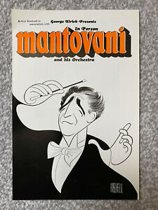 Vintage original retro 1960s Mantovani and his Orchestra handbill - Leicester