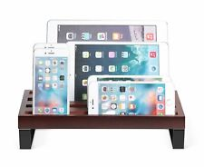 Desk Tablet Stand Charging Docking Station Cable Organizer iPhone Samsung Ipad
