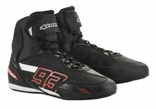 Alpinestars Austin MM93 collection Motorcycle Motorbike Riding Shoes-Black/Red
