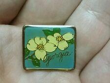 Georgia State Flower Rose Laevigata Lapel/Hat Pin EUC Pinback