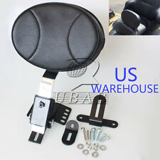 Plug In Driver Backrest Kit for Harley Touring Bagger Road King Glide 97-16 US
