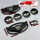 7pcs For Hyundai Genesis Coupe Black Wing Badge Emblem Sticker 30 Off Fast Ship