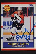 Murray Baron Flyers Autographed 1990 Score Prospect #399 Signed Card JSA 16H