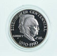 Proof 1990-P Eisenhower Centennial Commemorative 90% Silver Dollar