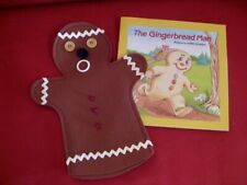 GINGERBREAD MAN Boy HAND PUPPET & Book, story time, Play Time