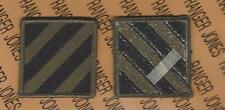 US Army 3rd Infantry Division MARNE OD Green & Black BDU patch m/e