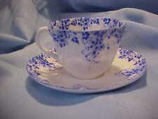 Shelley Fine Bone China Dainty Blue Shape Tea Cup & Saucer - 051/28