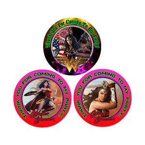 12 Wonder Woman Movie Birthday Party Favor Stickers (Bags Not Included) #1