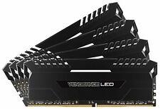 Corsair Vengeance LED 64 Go (4x16 Go) 3000 MHz DDR4 DRAM Kit de Mémorie (CMU64GX4M4D3000C16) Blanc LED
