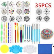 35pcs/Set Mandala Dotting Tools Rock Painting Kits Dot Art Pen Paint Stencil UK