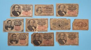WPCoins ~ (10) United States Fractional Notes As Is