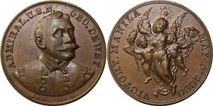Philippines Medal ~ 1898 Admiral Dewey Victory of Manila Bay ~ Honeycutt-55-14
