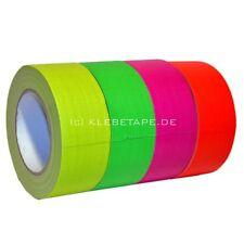 Neon Gaffa Klebeband Neon Orange 25m x 50mm fluoreszierend UV aktiv  Panzerband