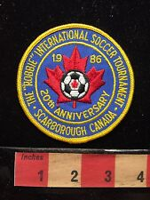 Robbie Int'l Soccer Tournament Patch Scarborough Canada 20th Anniversary 68WD