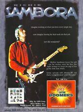 Bon Jovi Richie Sambora GHS Strings Crush 2000 Promo Poster Ad