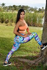 NEW Fame Sportswear Ice Cream Microfiber Sportswear Athletic Colombian Leggings