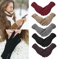 Thermal Windproof Winter Gloves Touch Screen Warm Mittens Fleece Soft Women Girl