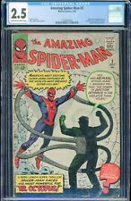 Amazing Spider-Man #3 1st DR OCTOPUS Marvel 1963 CRM/OWH Pages CGC 2.5 GD+ 🕸