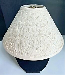 "Battenburg Lace Lampshade Cream Color 14"" Base 7"" High 8.5"" Length on slant"