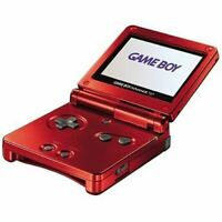 Authentic Refurbished Game Boy Advance SP (Flame Red) w/Charger