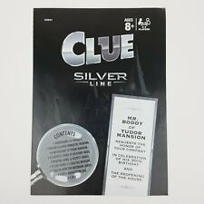 Clue Silver Line Game Replacement Instruction Manual Booklet Part Piece 2016
