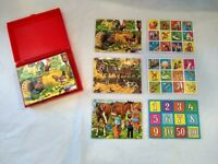 ABC Blocks by Eichhorn Made in West Germany Uncut Picture Sheets Plastic Case