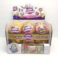 MINI BRANDS - SERIES 2 - FULL CASE OF 12 BALLS W/ DISPLAY BOX -  5 SURPRISE ZURU