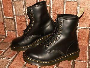 Dr. Martens AirWair 1460 VEGAN leather boots black uk 4 eu 37 us 6 Doc#476