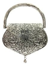 Brass metal Sling bag metal clutch Ethnic Clutch White Metal bag Indian clutch