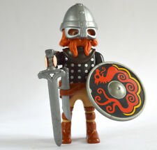 PLAYMOBIL CAPE FOURRURE OURS CASQUE CORNE  VIKING DRAGON       NEUF