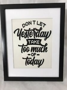 11x14 With 8x10 Matt picture frame With Positive Quote