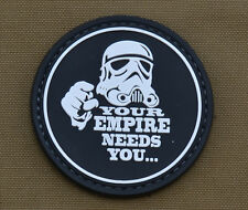 """PVC / Rubber Patch """"Your Empire Needs You"""" with VELCRO® brand hook"""