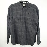 Orton Brothers Men's Gray Plaid Windowpane Flannel Long Sleeve Shirt Size 3XL