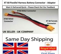 XT60 Parallel Y Harness Connector Splitter Cable Series 2 LIPO Battery ESC RC UK