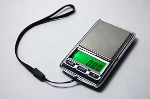 Mini Gem & Jewelry Digital Carat Pocket  Scale 0.01/500g ,0.05/2500ct