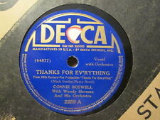 CONNIE BOSWELL w/ WODDY HERMAN -  Thanks For Ev'rything / Deep In   DECCA 78rpm