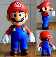 "Super Mario Bros 9"" Big Size Red Mario Poseable Action Figures child Toy Gift"