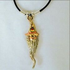 2 Wizard Head 3D Rope Necklace jewelry #Jl11 fantasy