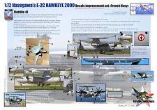 [FFSMC Productions] Decals 1/72 Grumman E2-C Hawkeye Français