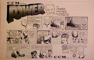 1970 Bobby Hull~Chicago Blackhawks NHL Hockey CCM Tacks Skates Cartoon Promo AD