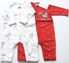 2x Schlafanzug Gr.56 H&M NEU m.E 100% Baumwolle Einteiler Set disney bambi