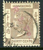 China 1901 Hong Kong 30¢ Bown QV Wmk CCA SG #61 VFU J777 ⭐⭐⭐⭐⭐⭐