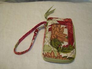 Vera Bradley Hello Dahlia! Zip Around Wristlet/Wallet/ID Card Holder Floral