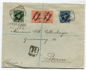 Spanish Marruecos R-cover Tanger to Berne Switzerland 18-3-1903