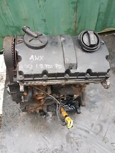 AUDI VW SKODA SEAT 1.9TDI 130BHP BARE ENGINE AWX 139K MILAGE INJECTOR NO INCLUDE