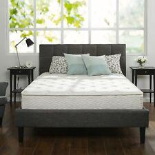 """10"""" Inch Full Size Box Full Spring Frame Foam Mattress Set Topper Bed Frame Air"""
