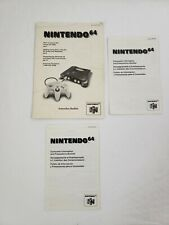 OFFICIAL Nintendo 64 System Manuals N64 Console Instruction Booklets