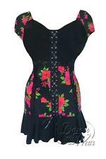 NWT WOMENS PLUS SIZE CLOTHING CABARET CORSET TOP IN ROSE NOIR 5X