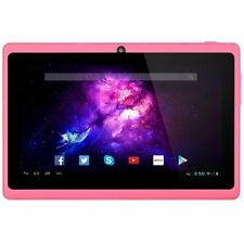 7 Zoll Tablet PC- Android 4.4 Quad Core Dual-Kamera Bluetooth Wi-Fi 8GB- Pink