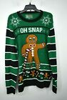 Ugly Christmas Sweater Mens Ugly Christmas Sweater Crewneck Long Sleeve Cotton L